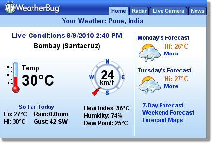 21 Get Live Local Weather Conditions in Firefox with WeatherBug