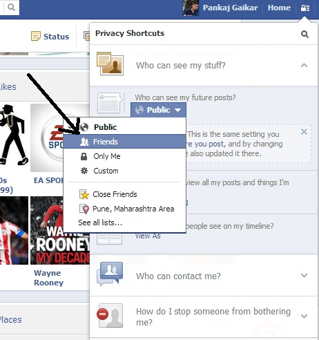 New facebook Privacy settings