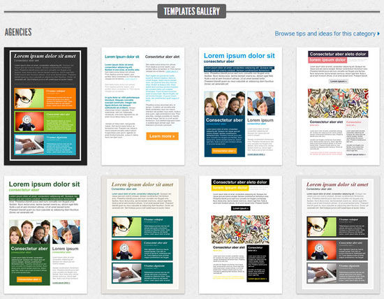 GetResponse email templates